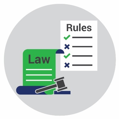 Icons for rules and laws