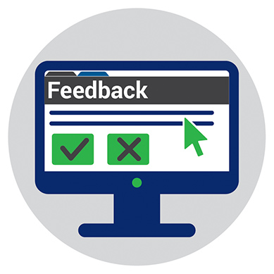 Feedback website page icon.